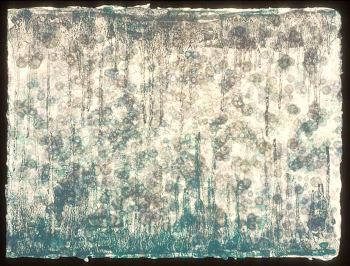 Untitled, 1998, Hand-made paper, pigment